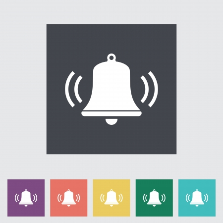 Bell flat icon. Vector illustration EPS. Vector