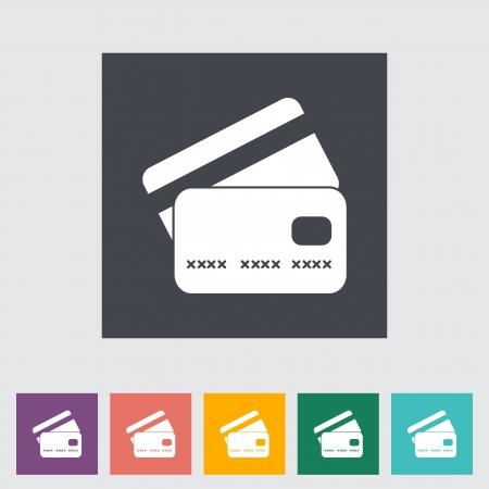 Credit card flat single icon  illustration  Vector