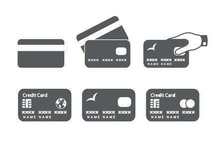 Credit card icons  illustration  Illustration