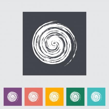 iconillustration: Sun icon. Single flat icon.illustration. Illustration