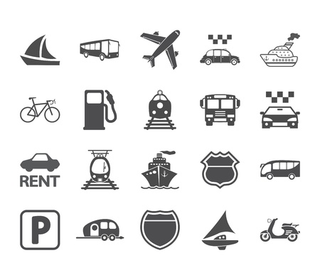 Transportation icon set. illustration. Vector