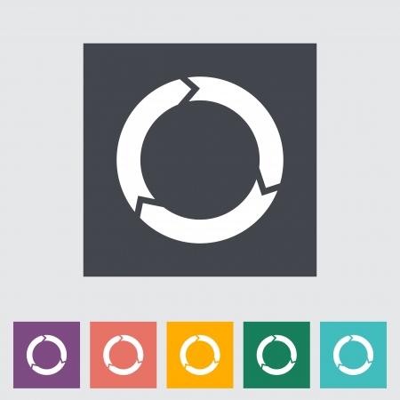 Update flat icon. illustration. Stock Vector - 21113758