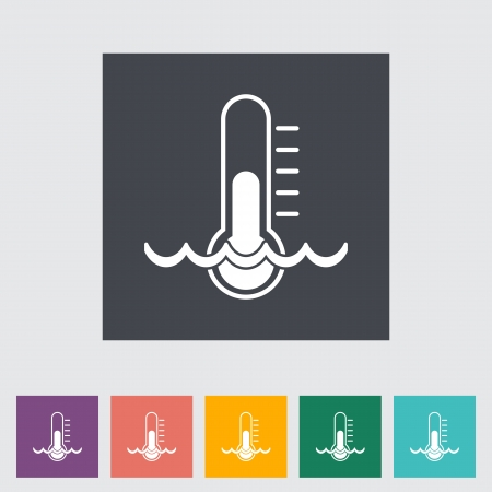 Thermometer flat icon. illustration. Vector