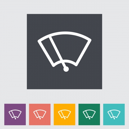 windscreen: Windshield washer. Single icon illustration. Illustration