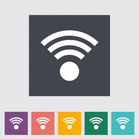 Wireless icon illustration. Stock Vector - 21113757