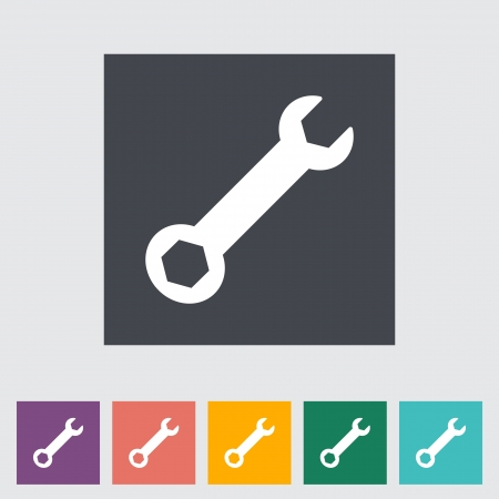 Wrench single icon illustration. Stock Vector - 21113806