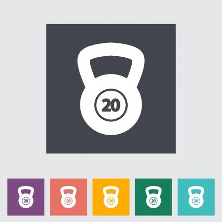 oversize: Sport weight single flat icon illustration. Illustration