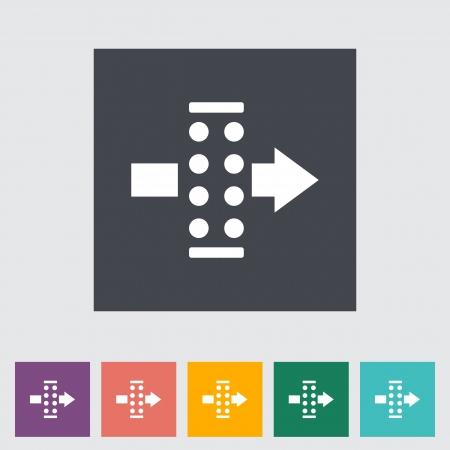 air filter: Air filter. Single flat icon illustration. Illustration