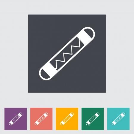 Automotive fuse single flat icon illustration.
