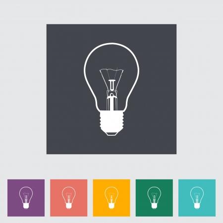 Bulb flat icon illustration. Stock Vector - 21113905