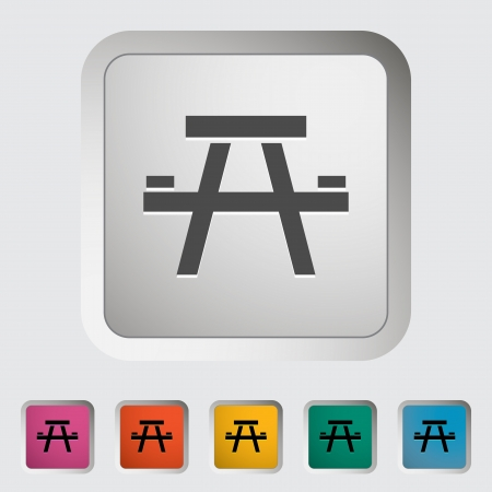 Camping table. Single icon illustration. Vector