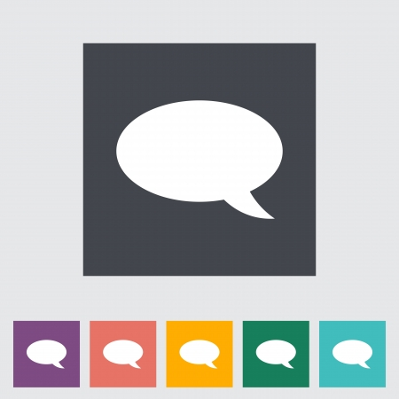 Chat icon. Single flat icon illustration. Vector