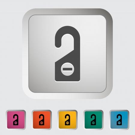 inconvenience: Door tag. Single icon illustration.