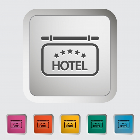 Hotel. Single icon illustration. Vector