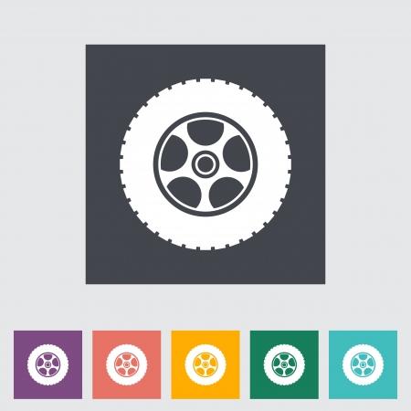 Icon car wheel illustration. Vector
