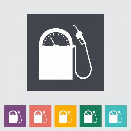 Fuel. Single flat icon illustration. Stock Vector - 21114794