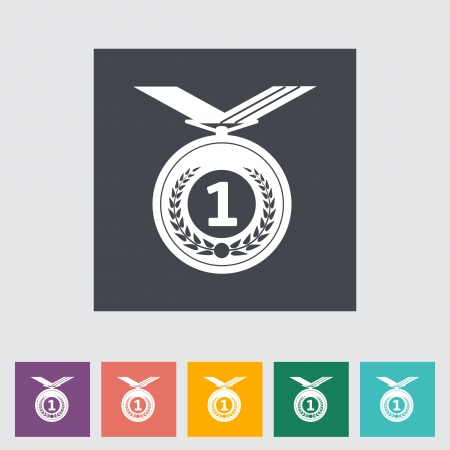 Icon medal illustration. Vector