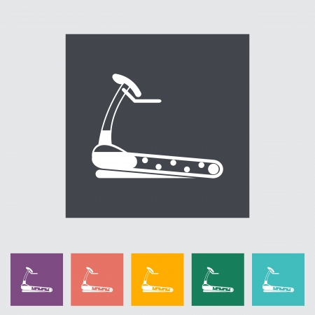 Icon trainer treadmill illustration. Vector