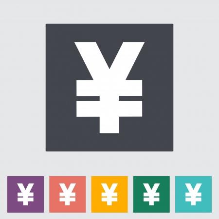 Yen flat icon illustration. Stock Vector - 21114816
