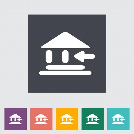 Entry single flat icon illustration. Stock Vector - 21114804