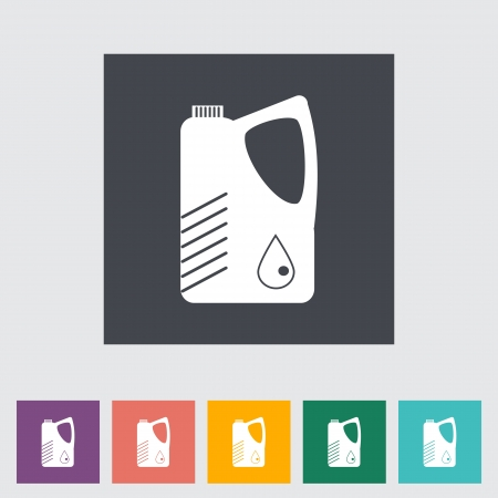 Jerrycan single flat icon illustration. Vector