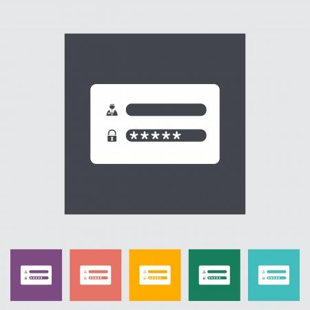 Log in flat icon illustration. Vector
