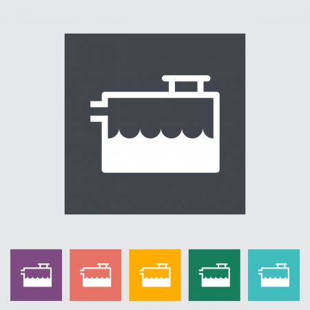 Low coolant indicator. Single flat icon illustration. Vector