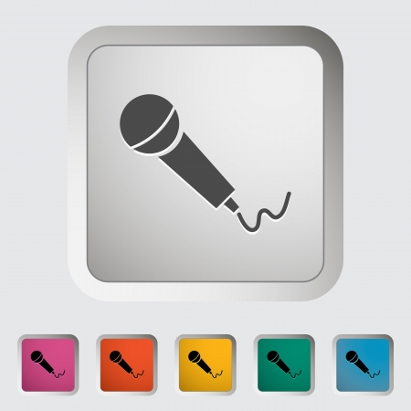 Microphone. Single icon illustration. Stock Vector - 21114831