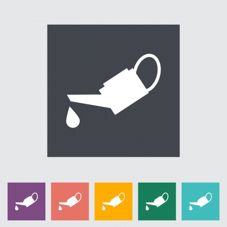 emulsifier: Oilier single flat icon illustration.