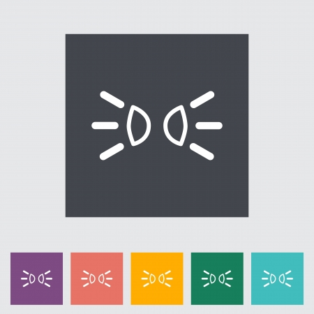 Park lights. Single flat icon illustration. Vector