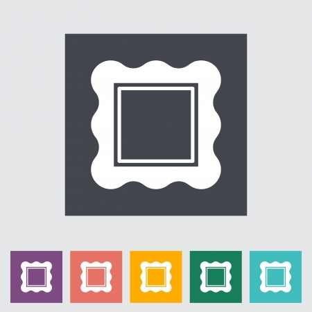 Picture frame. Single flat icon illustration. Vector