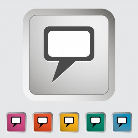 notarized: Document single icon.  Illustration