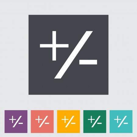 hyphen: Plus minus singola icona piatto.