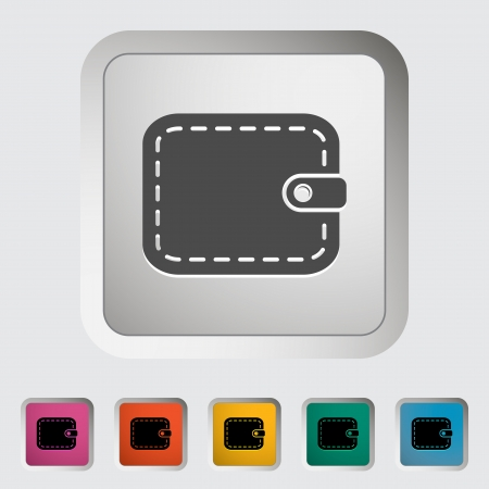 Purse. Single flat icon. Vector