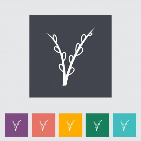 primrose: Pussy-willow single flat icon.