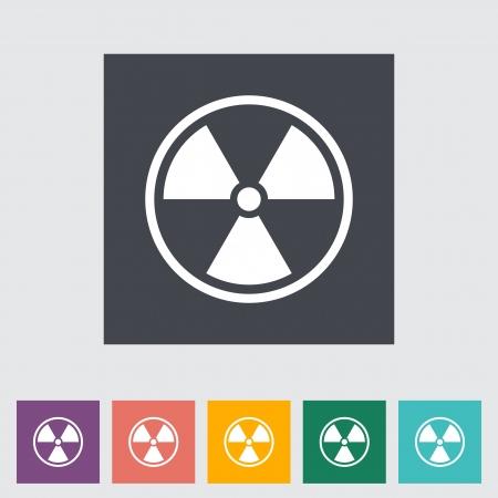 chemical weapon symbol: Radioactivity. Single flat icon.  Illustration