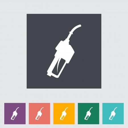 refueling: Refueling nozzle flat icon.