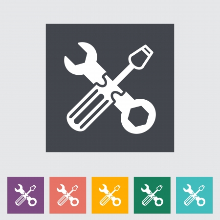 hardware configuration: Repair flat icon.