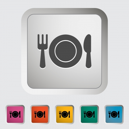 Restaurant. Single icon illustration. Vector