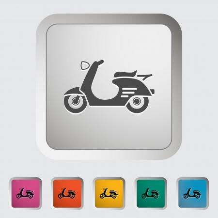 revivalism: Scooter. Single icon illustration. Illustration