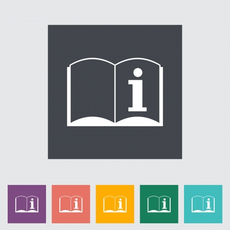 See owner's manual. Single flat icon illustration. Stock Vector - 21115299