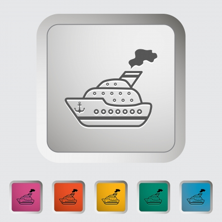 Ship. Single icon illustration. Vector
