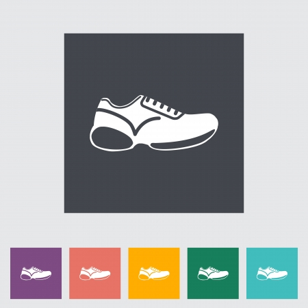 tennis shoe: Shoes flat icon illustration.