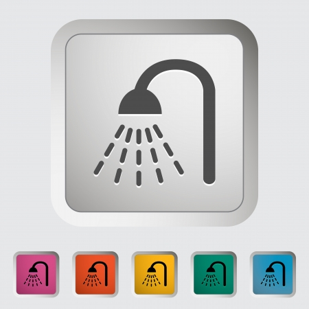 Shower icon. Single icon illustration. Stock Vector - 21115333