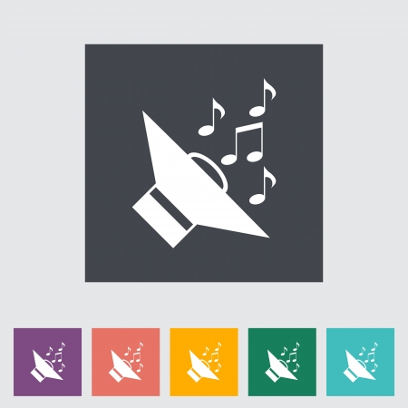 Icon of car speakers. Single flat icon illustration. Vector