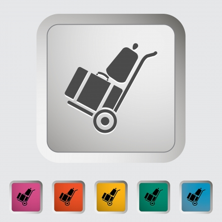 trolley case: Suitcase. Single icon illustration.
