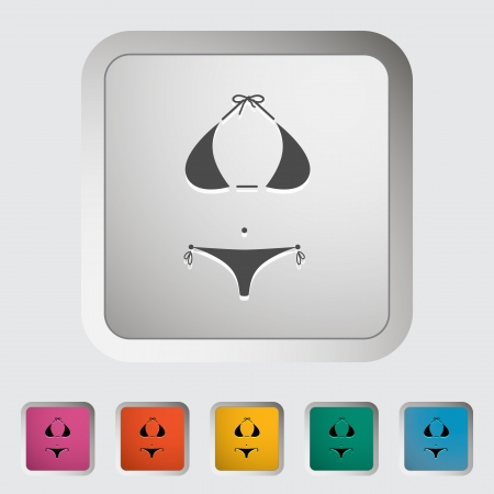 Swimming suit. Single icon illustration. Vector