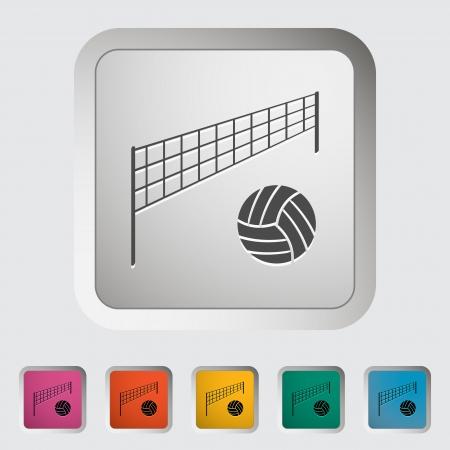 Volleyball. Single icon illustration. Vector