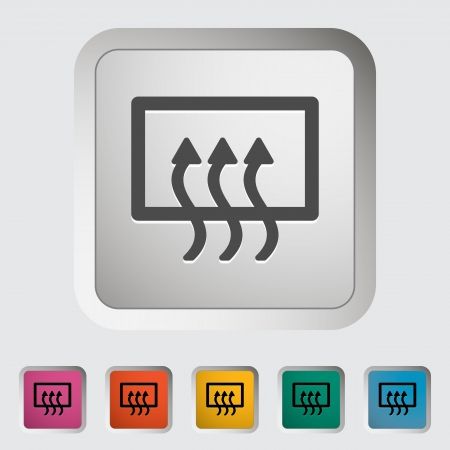 vent: Rear window defrost. Single icon. Vector illustration..
