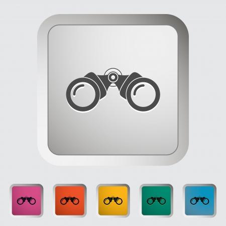 Binoculars icon. Single icon. Vector illustration. Stock Vector - 21190407